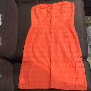 NWT Jcrew strapless dress in Coral